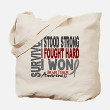 Survivor 4 Brain Tumor Shirts and Gifts Tote Bag