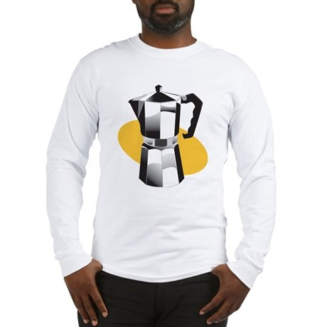 Pop Art - 'Coffee Pot' Long Sleeve T-Shirt