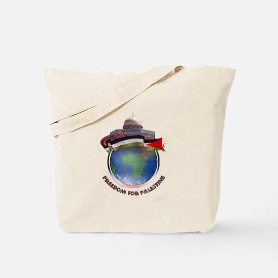 Palestine flag globe Tote Bag