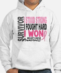 Survivor 4 Breast Cancer Shirts and Gifts Hoodie