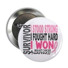 "Survivor 4 Breast Cancer Shirts and Gifts 2.25"" Bu"