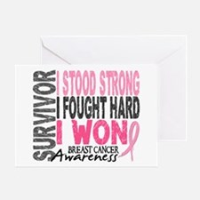 Survivor 4 Breast Cancer Shirts and Gifts Greeting