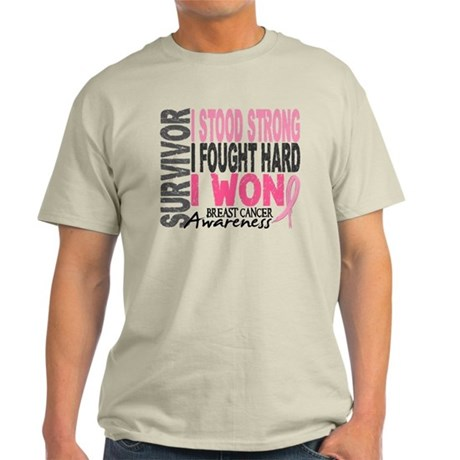 Survivor 4 Breast Cancer Shirts and Gifts Light T-