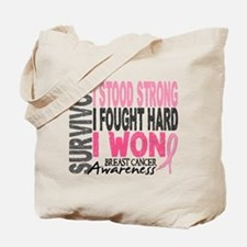 Survivor 4 Breast Cancer Shirts and Gifts Tote Bag