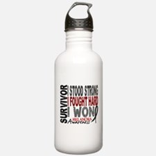 Survivor 4 Melanoma Shirts and Gifts Water Bottle
