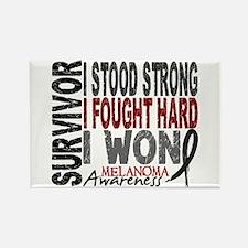 Survivor 4 Melanoma Shirts and Gifts Rectangle Mag