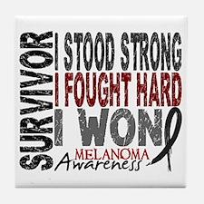 Survivor 4 Melanoma Shirts and Gifts Tile Coaster