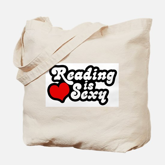 Reading is sexy Tote Bag