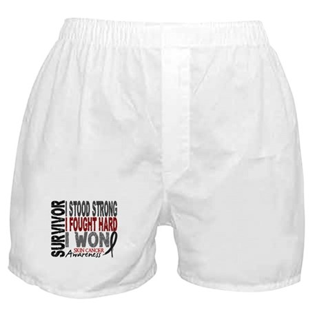 Survivor 4 Skin Cancer Shirts and Gifts Boxer Shor
