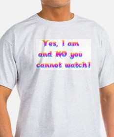 Cannot Watch Ash Grey T-Shirt