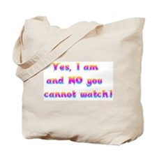 Cannot Watch Tote Bag