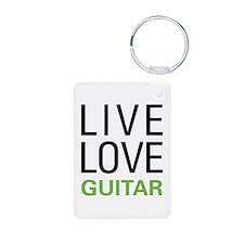 Live Love Guitar Keychains