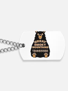 Cute Smoky mountains Dog Tags