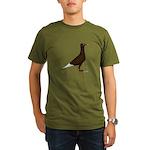 Flying Flight Red Organic Men's T-Shirt (dark)