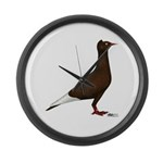 Flying Flight Red Large Wall Clock