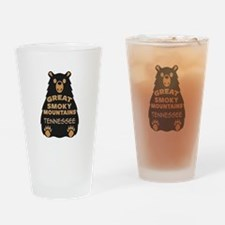 Great Smoky Mountains Bear National Drinking Glass
