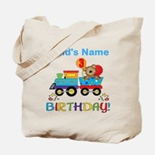 3rd Birthday Train Tote Bag