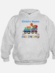 3rd Birthday Train Hoodie