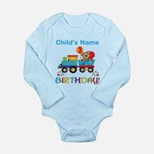 3rd Birthday Train Long Sleeve Infant Bodysuit