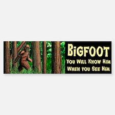 Bigfoot Bumber Bumper Bumper Sticker