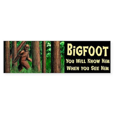 Bigfoot Bumber Sticker