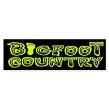 Bigfoot Country Bumber Bumper Sticker