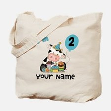 2nd Birthday Boy Cow Tote Bag