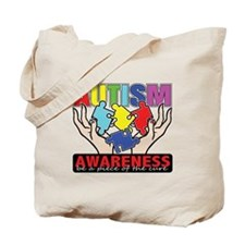 Autism Piece of the Cure Tote Bag