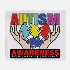 Autism Piece of the Cure Throw Blanket