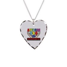 Autism Piece of the Cure Necklace Heart Charm