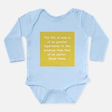 david hume Long Sleeve Infant Bodysuit