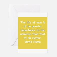 david hume Greeting Card