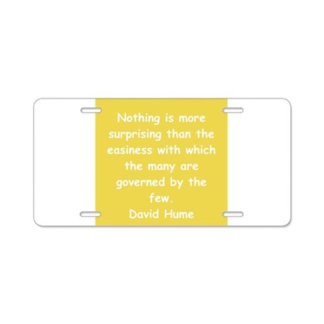 david hume Aluminum License Plate