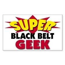 Super Black Belt Geek Decal