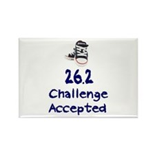 26.2 Challenge Accepted Rectangle Magnet