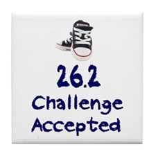 26.2 Challenge Accepted Tile Coaster