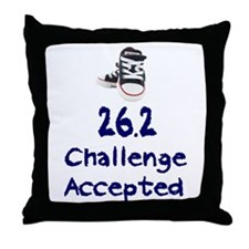 26.2 Challenge Accepted Throw Pillow
