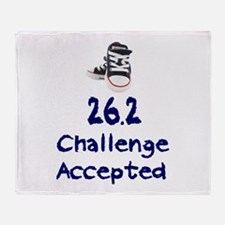 26.2 Challenge Accepted Throw Blanket