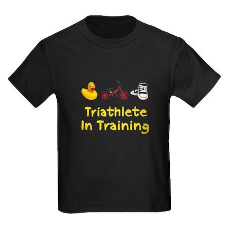 Triathlete in Training Kids Dark T-Shirt