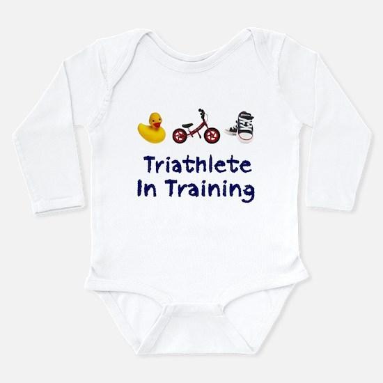 Triathlete in Training Long Sleeve Infant Bodysuit