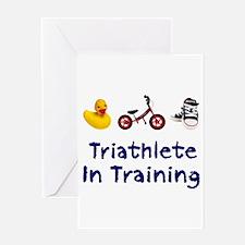 Triathlete in Training Greeting Card