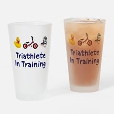 Triathlete in Training Drinking Glass