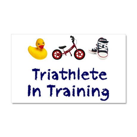 Triathlete in Training Car Magnet 20 x 12