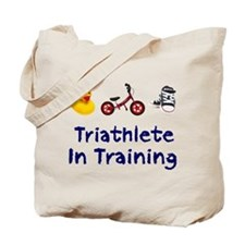 Triathlete in Training Tote Bag