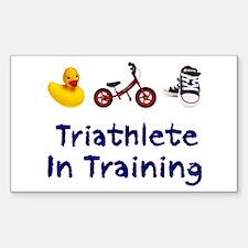 Triathlete in Training Decal