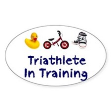 Triathlete in Training Decal