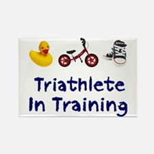 Triathlete in Training Rectangle Magnet