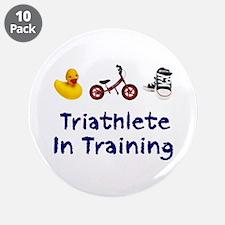 "Triathlete in Training 3.5"" Button (10 pack)"