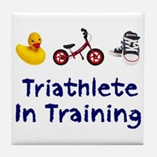 Triathlete in Training Tile Coaster