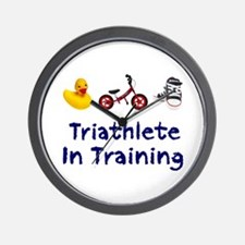 Triathlete in Training Wall Clock